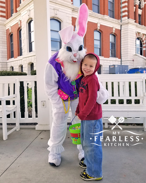our son with the easter bunny