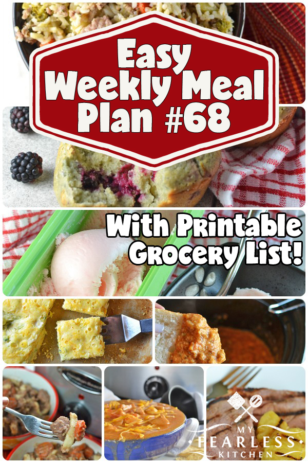 collage of recipes in meal plan