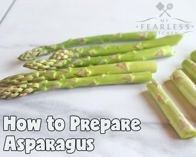 break the ends off asparagus spears before cooking