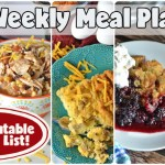 Easy Weekly Meal Plan #70