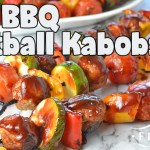 Easy BBQ Meatball Kabobs