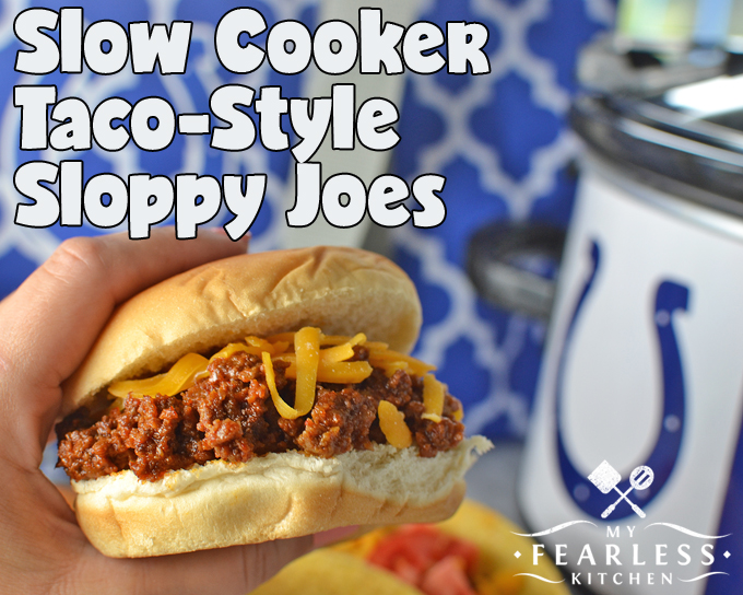 Slow Cooker Taco-Style Sloppy Joes from My Fearless Kitchen. These Slow Cooker Taco-Style Sloppy Joes will be the hit of any party. Eat them like a taco or like a sloppy joe, they're delicious either way!