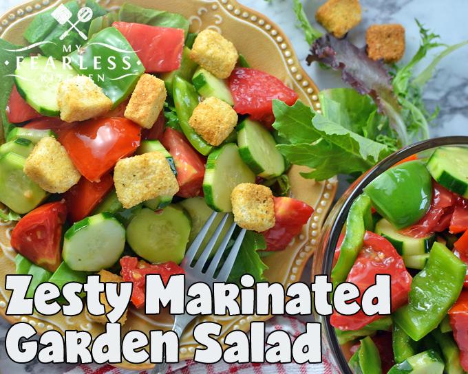 Zesty Marinated Garden Salad - My Fearless Kitchen