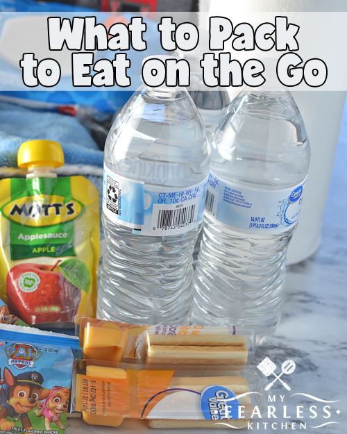 """What to Pack to Eat On the Go from My Fearless Kitchen. If you spend a lot of time in your car, you need a """"Hangry Emergency Kit."""" Get the free printable checklist of everything I keep in our truck so we can eat on the go."""