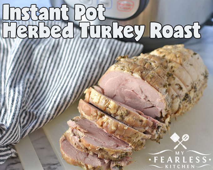 Instant Pot Herbed Turkey Roast from My Fearless Kitchen. This simple Instant Pot Herbed Turkey Roast is perfect for a small family Thanksgiving or Christmas dinner, or just for any time you feel like turkey!