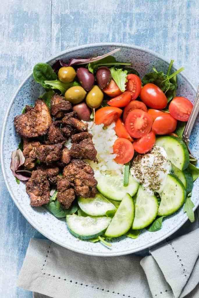 MyFinancialHill Air Fryer Chicken Shwarma Bowl Healthy Low Carb Dinner