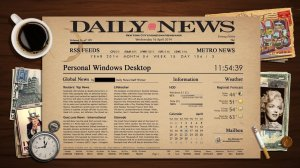 Newspaper Rainmeter Best Skin