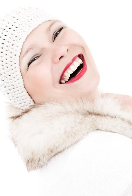 smiling winter girl lic public domain