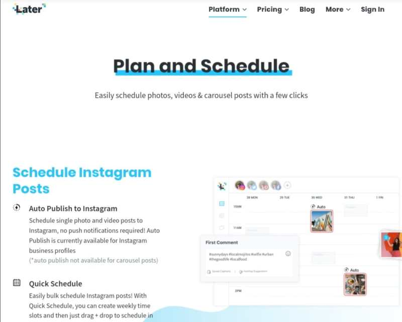 Schedule Instagram Post By Later