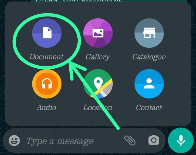 Send Photos in Whatsapp Without Losing Quality step 3