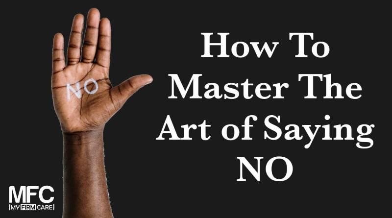 Art of Saying NO
