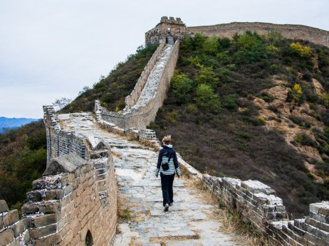 Jane on The Great Wall of China.