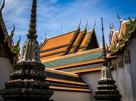 Wat Pho towers and temples.