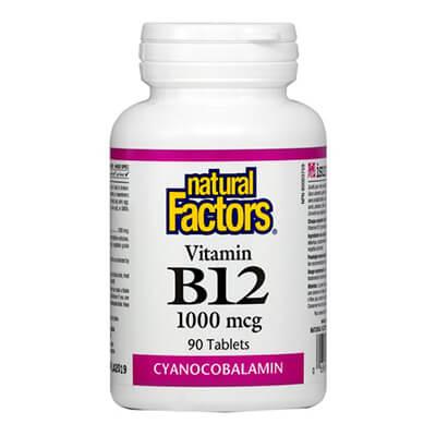 Natural Factors, Витамин В12 (цианокобаламин)