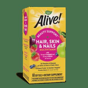 Алайв, Мултивитамини коса, кожа и нокти х 60 софтгел капсули