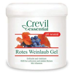 Crevil Essential, ГЕЛ ЗА УМОРЕНИ И ТЕЖКИ КРАКА с Червена лоза и Алантоин, 250 мл
