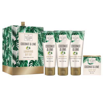 """Подаръчен комплект """"Кокос и Лайм"""" (Coconut & Lime) - 4 продукта"""