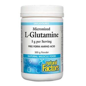 Natural Factors, L-Глутамин (микронизиран) Пудра х 300 гр./60 дози