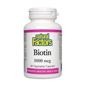 Natural Factors, Биотин 5000 мг х 60 капсули