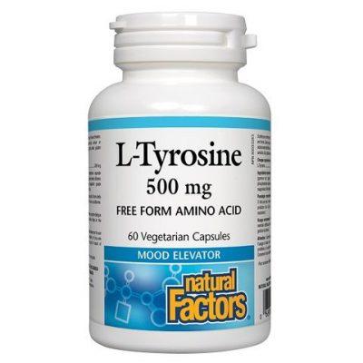 Natural Factors, Л-Тирозин, 500 мг х 60 капсули