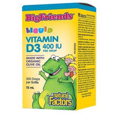 Vitamin D3 Big Friends®, Витамин D3 за деца - 400 IU x 15 мл/ 500 дози