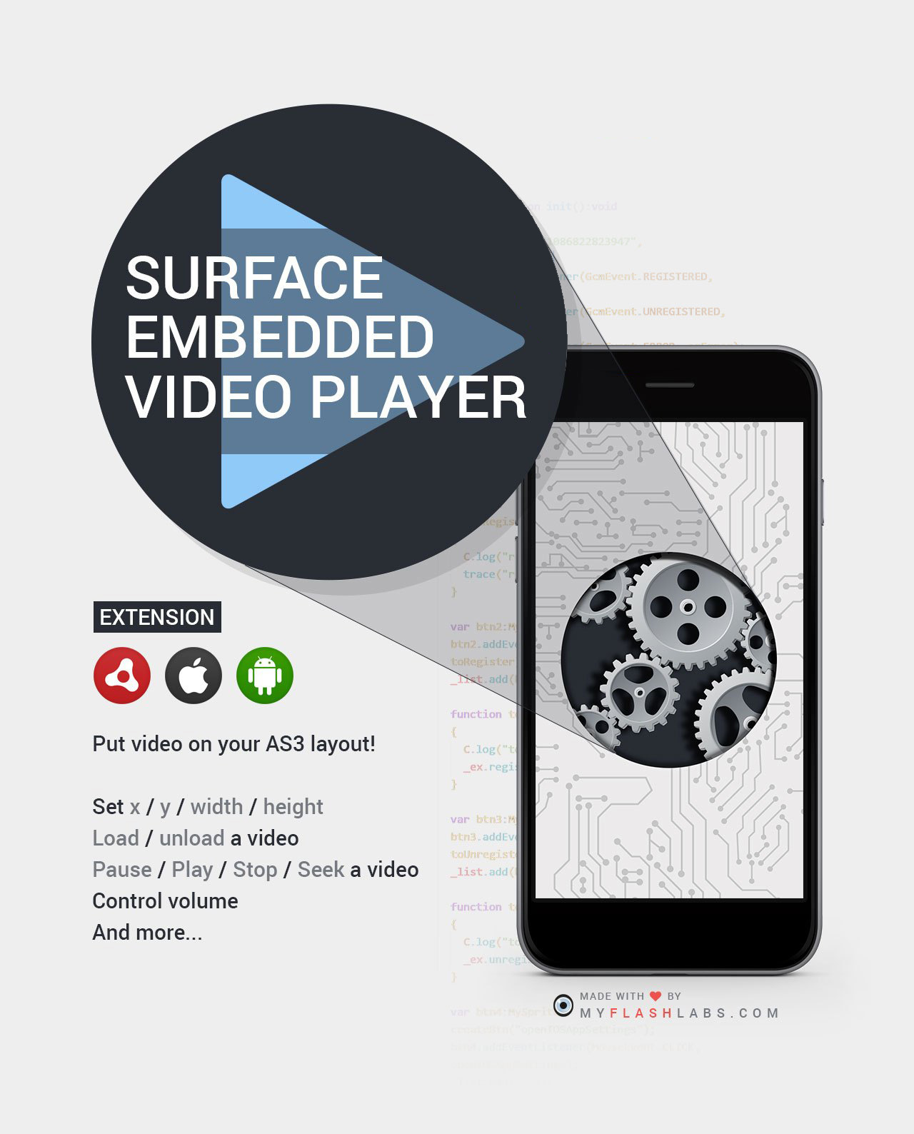 embedded video player ANE (Android+iOS)