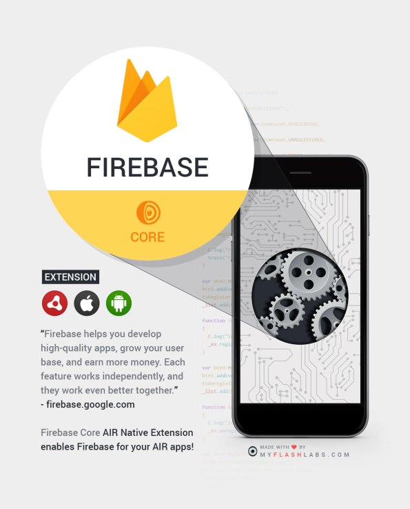 Firebase Air Native Extension (core) Android+iOS