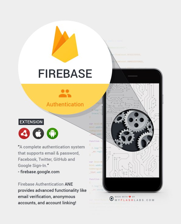 Firebase Air Native Extension (Authentication) Android+iOS