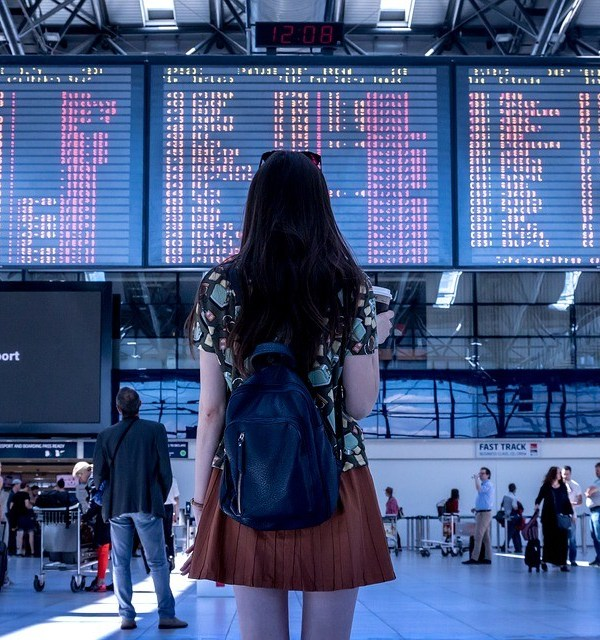 Airport, Transport, Woman, Girl, Tourist, Travel
