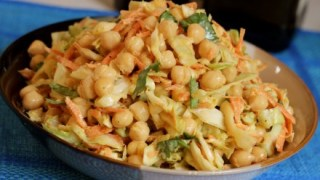 chickpea curry coleslaw