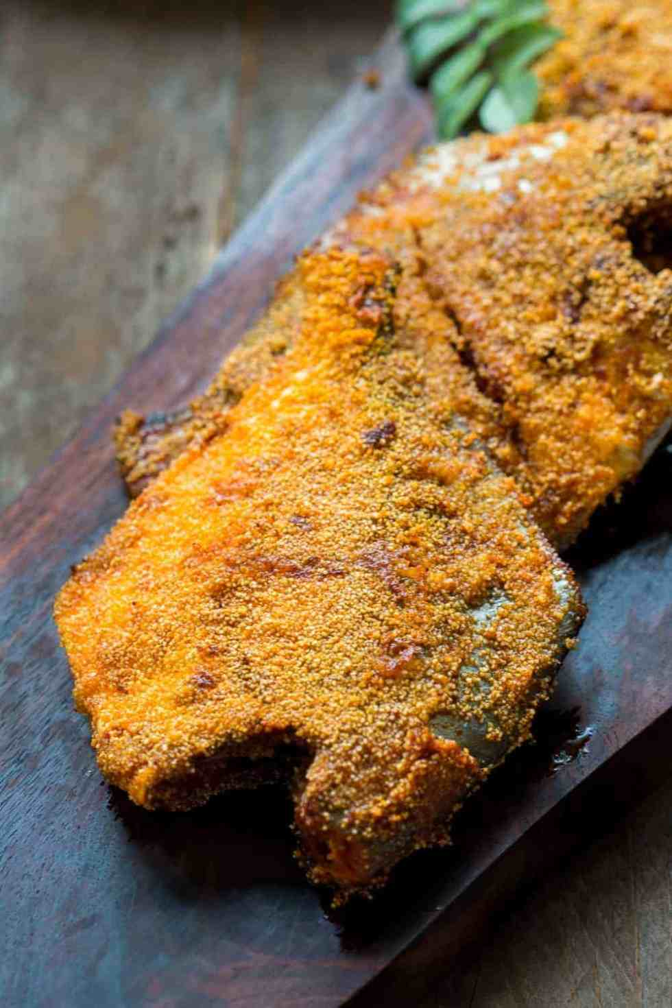 Rava pomfret fish fry mangalorean style my food story for How do you fry fish