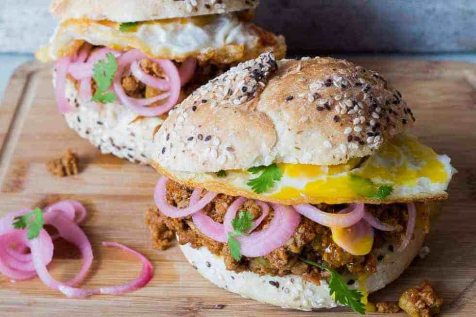 Keema Pav Burger | Indian Lamb Sloppy Joes