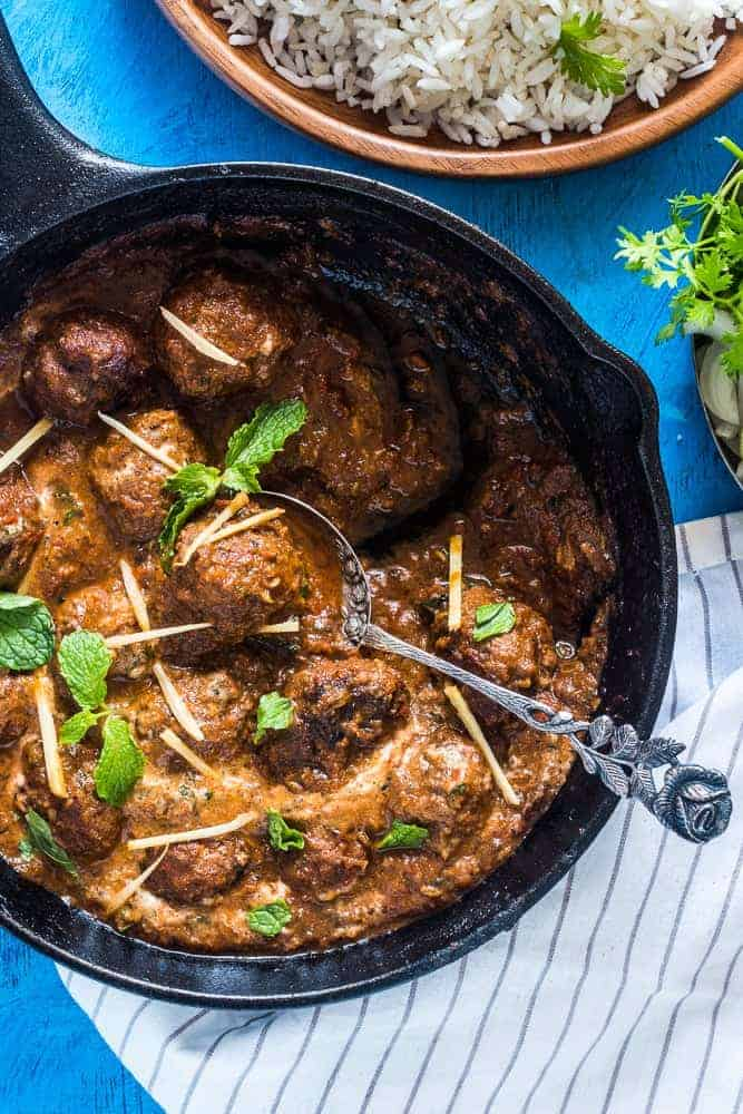 Easy One Pot Mutton (Lamb) Kofta Curry