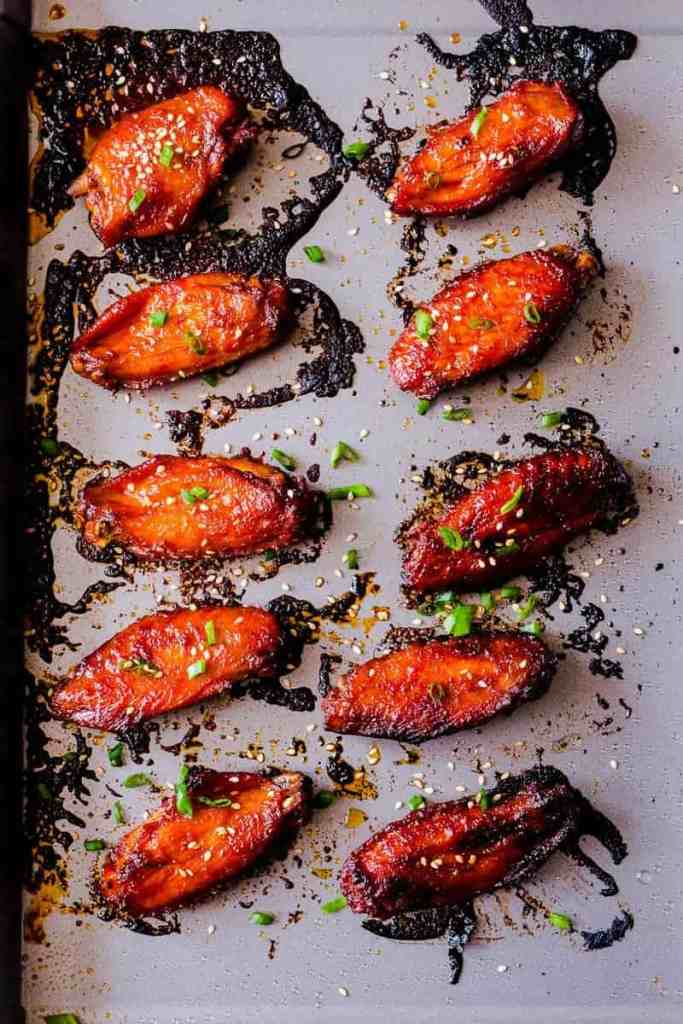 Korean Baked Gochujang Chicken Wings