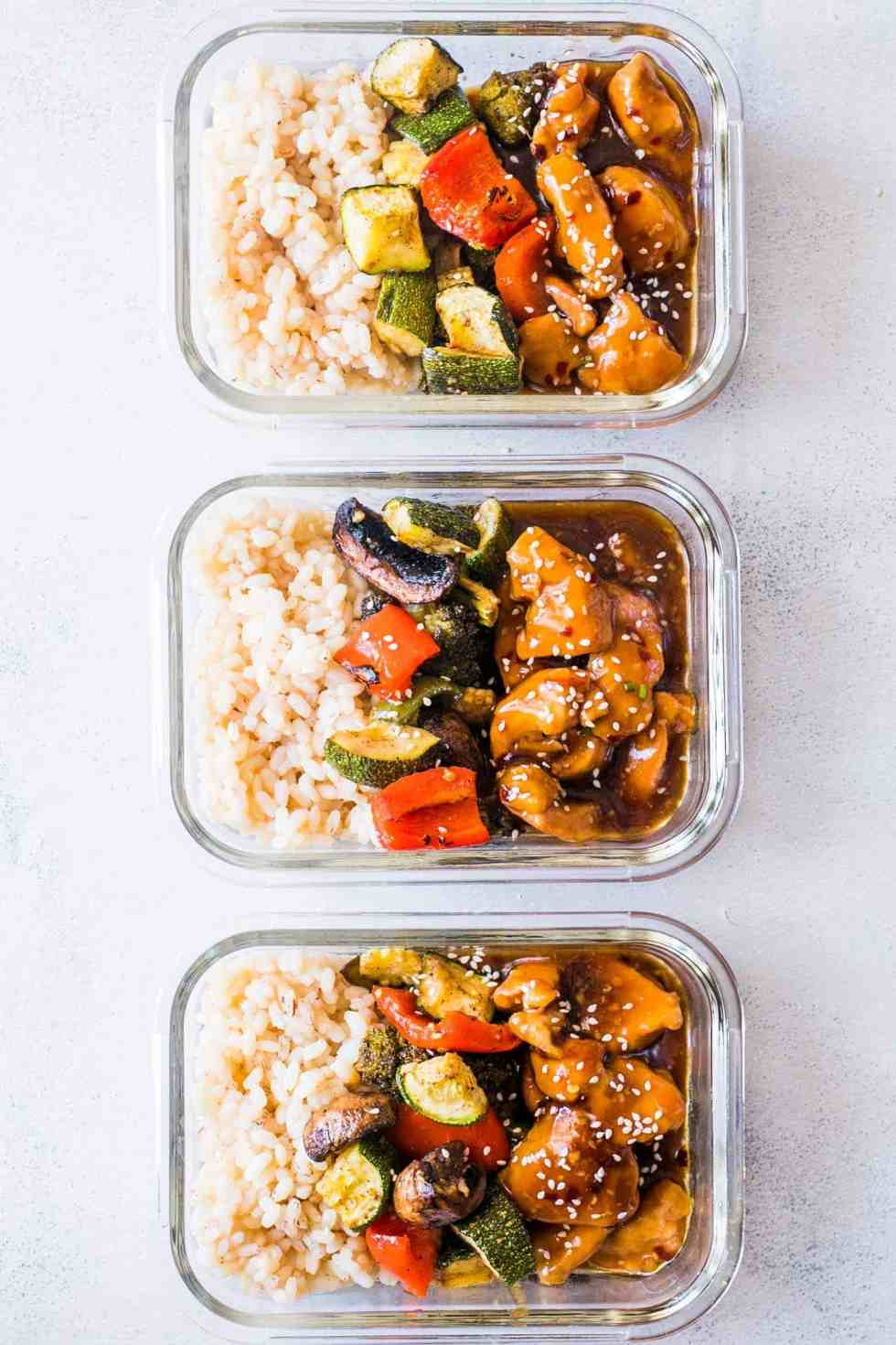 teriyaki chicken stir fry meal prep lunch boxes my food story. Black Bedroom Furniture Sets. Home Design Ideas
