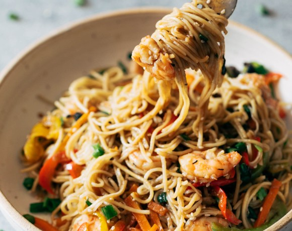 Shrimp Chow Mein (One Pot Meal, 30 minute)