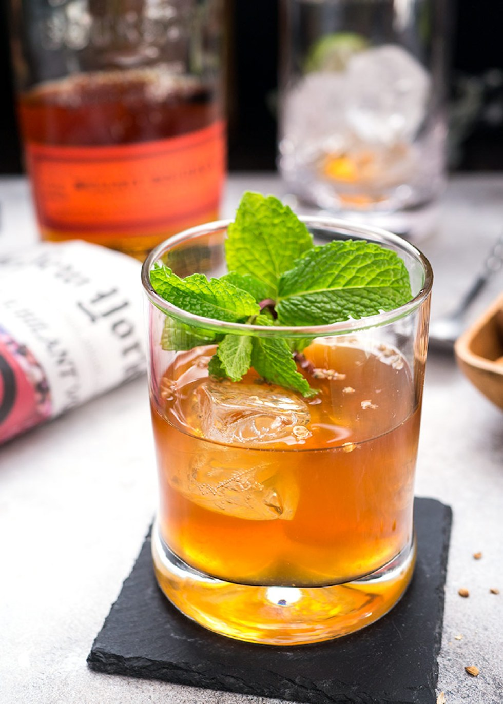 This is a simple cocktail made with black tea and some fine bourbon. It's inspired from a famous movie called 'To kill a mockingbird' thus the name 'Another man's shoe'.