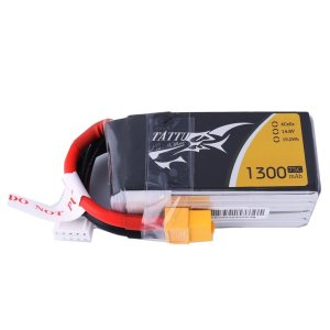 Tattu 4S 1300mAh LiPo Battery 75C 14.8V Pack with XT60 Plug