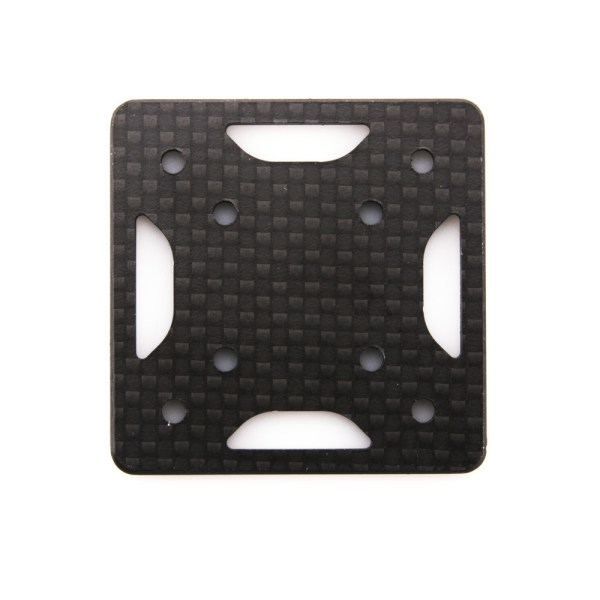 The replacementQAV-SKITZO Dark MatterFPV Freestyle Quadcopter Arm Bottom Plate made of 3mm thick 3k carbon fiber.