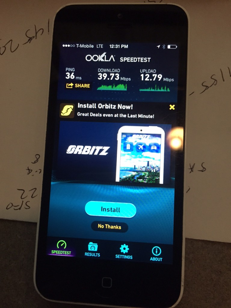 T-Mobile Speed Test