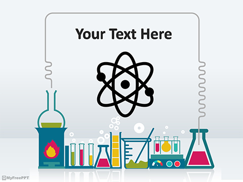 Scientific Presentation Template. science template m62. powerpoint ...