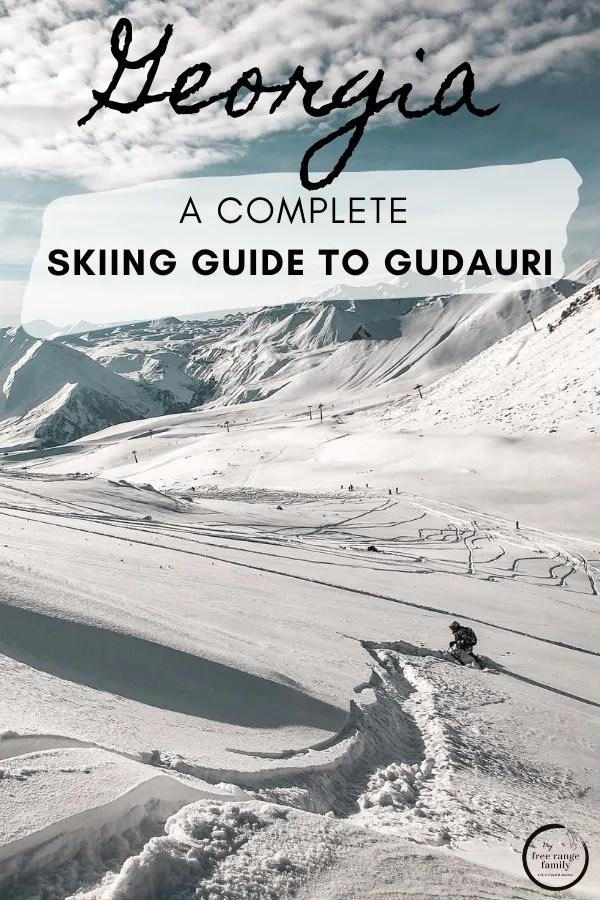 Skiing in Guduari