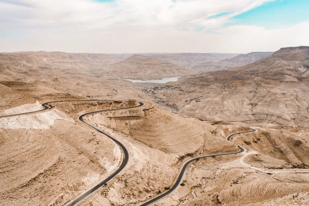 The view over Wadi Mujib and the King's Highway - Jordan itinerary