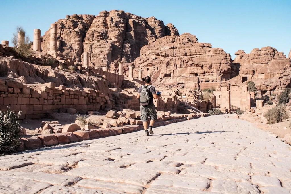 The Petra City Centre ruins - Jordan itinerary