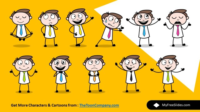 Free cartoon characters for Google Slides and powerpoint Templates 1
