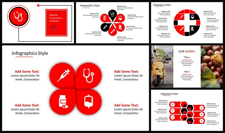 Red Color themed Google Slide Presentation