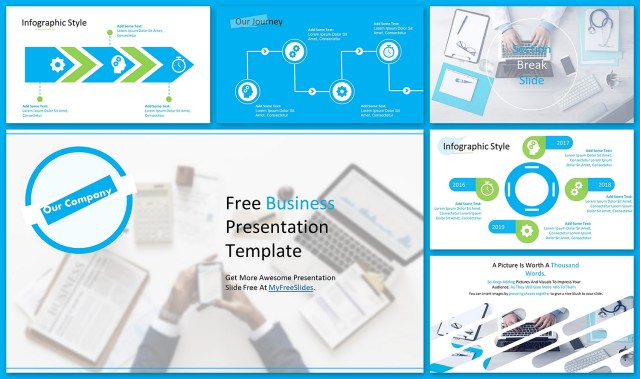 Aqua Blue Business Theme For Google Slides