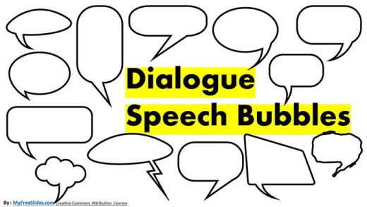 Free Speech Bubbles for Google Slides and Presentations
