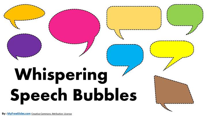 Free Whispering Speech Bubble