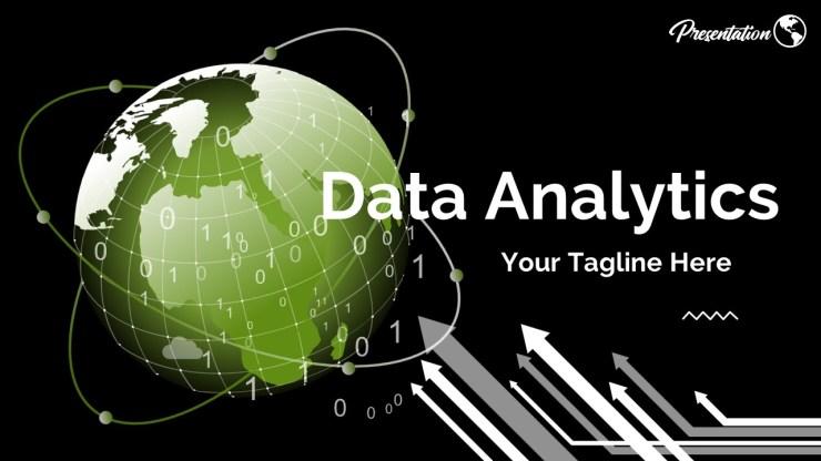 Data Analytics Elegant Powerpoint Template Slide